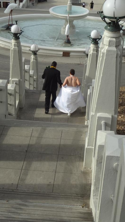 Cinderella leaving the ball?