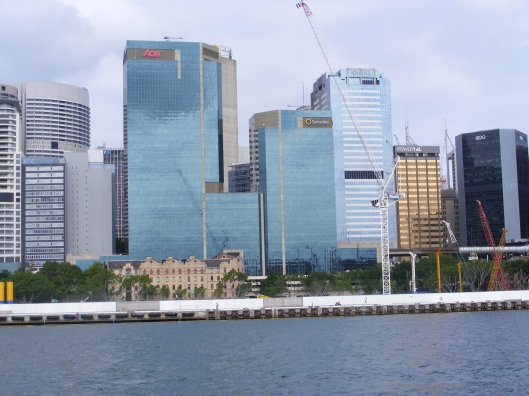 View over the city from the water