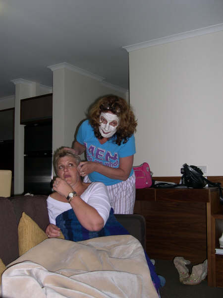 Peeling Sal's face
