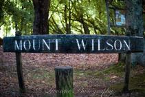 Mt Wilson Sign