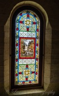 stained glass at Turkish Bath Museum