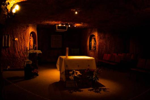 underground church at coober pedy