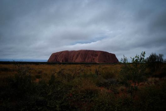 low lying cloud at Uluru