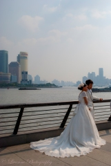 Bride and Groom on the Bund