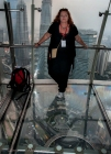 Glass bottom observation deck