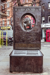 Agatha Christie monument