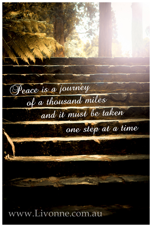 Peace is a journey