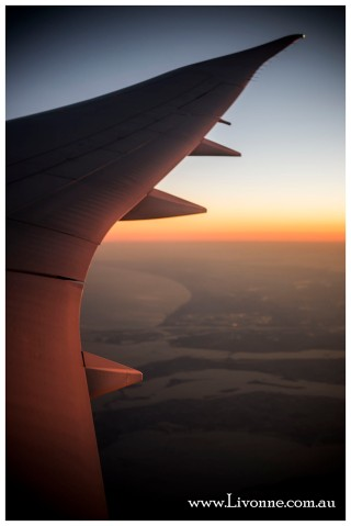 ..... by plane