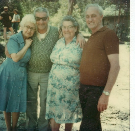 aunty yvonne, uncle fred, mum & dad